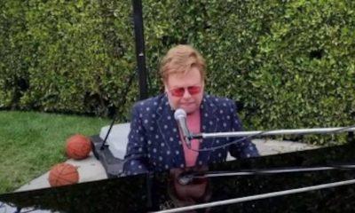 Elton John's basketball hoop during his Global Citizen performance loved
