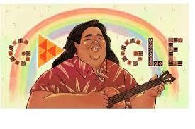 Israel Kamakawiwo'ole Featured on Today's Google Doddle